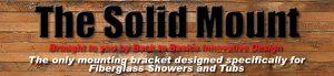 Install grab bars into fiberglass showers